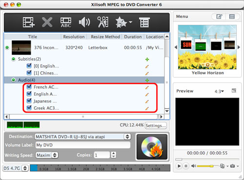 MPEG to DVD burning Mac software