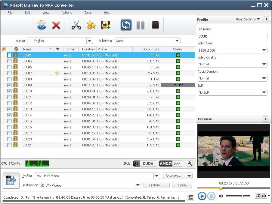التعريب 1160 ـ Xilisoft Blu-ray to MKV Converter 5 لتحويل أقراص blu-ray إلى MKV x-blu-ray-to-mkv-con