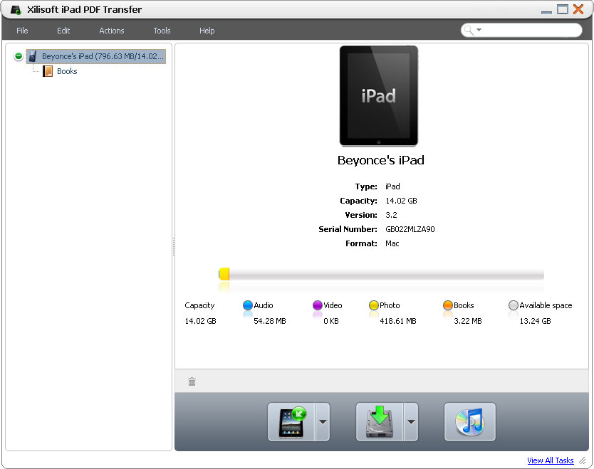 التعريب 1181 ـ Xilisoft iPad PDF Transfer لنقل الكتب الإلكترونية PDF إلى الآيباد iPad x-ipad-pdf-transfer.