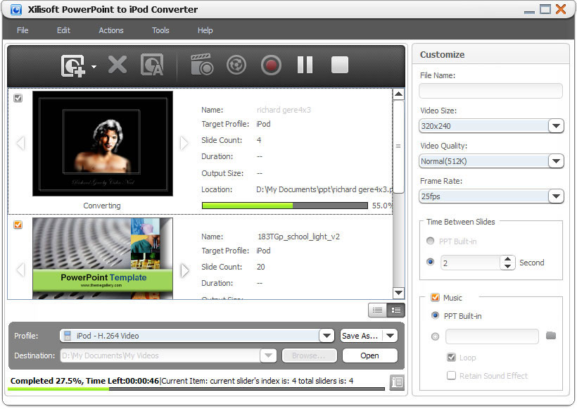 التعريب 1211 Xilisoft PowerPoint iPod x-powerpoint-to-ipod