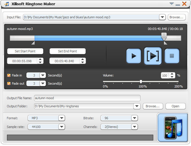 برنامج النغمات Xilisoft Ringtone Maker v2.0.3.0715 Final اصدار