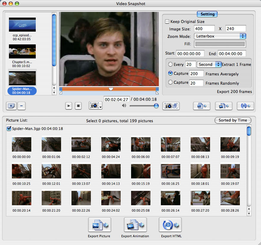 Xilisoft Video Snapshot for Mac