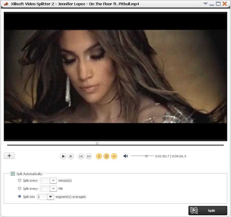 Xilisoft Video Splitter 2-Screenshot
